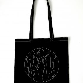 "Tote bag Imperméable ""Bodies"" - Noir - 39x41"