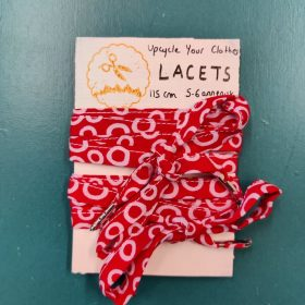 Upcycle Your Clothes - Lacets upcyclés - Rouge et Blanc